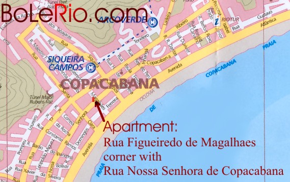 Map of apartment 1 BoLeRio