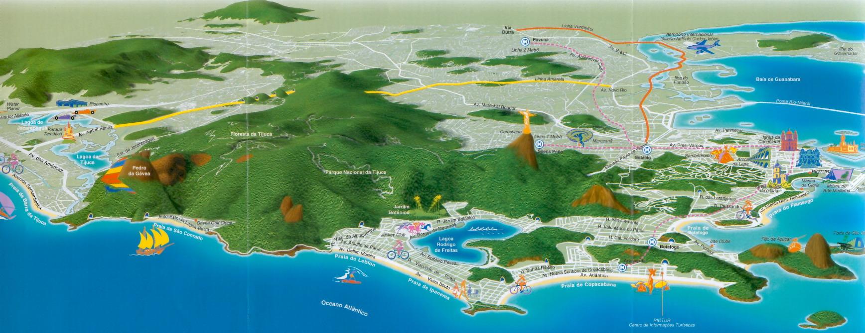 Maps of Rio de Janeiro city and state BoLeRio.com